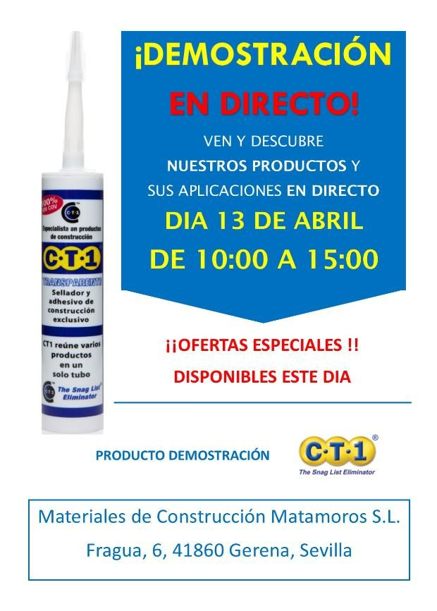 Invitaci n materiales de construcci n matamoros gerena sevilla ct1 13 04 18 ct1ltd - Materiales de construccion sevilla ...