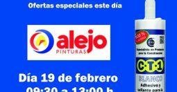 Invitación Pinturas Alejo Cerro del Águila Sevilla CT1 19-02-19
