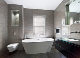 Bonding bathroom mirrors and glass