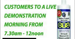 Total Plumbing – Somerset invites all customers to a live CTec products demo morning 15-03-16