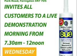 Plumbase – Gwent invites all customers to a live CTec products demo morning 16-03-16
