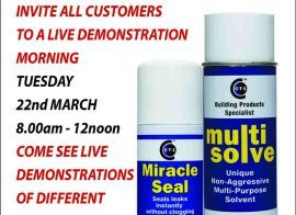 Orillo – Worcester invites all customers to a live CTec products demo morning 22-03-16