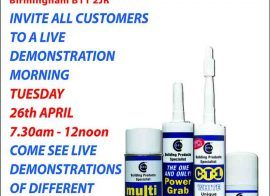 Edwards – Birmingham invites all customers to a live CTec products demo morning 24-04-16