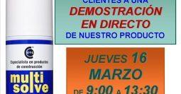 Invitación Pinturas Pereira Getafe Multisolve 16-03-17