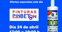 Invitación Pinturas Pinbetón CT1 24-04-19