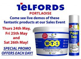 Come see us at Telfords Portlaoise 24th – 25th – 26th May 2018