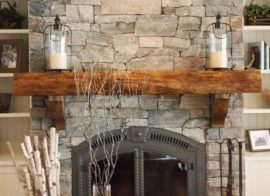 The best way to face a block built fireplace with stone.