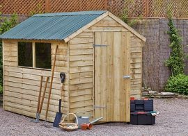 How to fix fascia board to a wooden garden cabin.