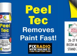 Fix Radio love Peel Tec at the National Painting & Decorating Show!