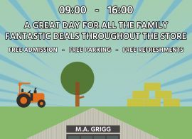 Come along to Griggs Open Day!