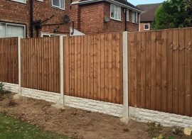 How to install fencing around the home.