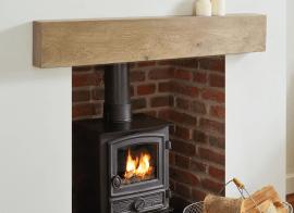 How to fit an oak beam mantelpiece.