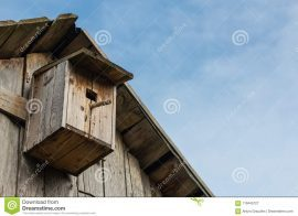 The best way to attach a large birdhouse to a barn wall.
